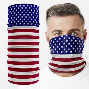 Face Mask Tube Neck Gaiter With Full Color Graphic Dye Sublimation Print Flag